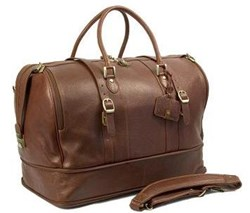 Dr. Koffer Blake Leather Carry on Travel Tote