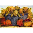Image of Puppies overflowing a basket