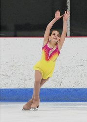 A young Traverse City figure skater.