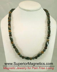 Magnetic Necklaces with gemstones for pain relief in neck, shoulder and the prevention of headaches
