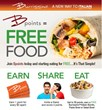 Bpoints = FREE FOOD!