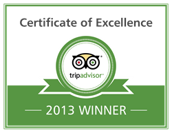 Kung Fu Thai & Chinese Restaurant in Las Vegas Certificate of Excellence Badge