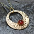 Carnelian and Bronze Pendant by Kathryn Designs Jewelry
