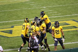 Cal Bears Celebrating in the End Zone