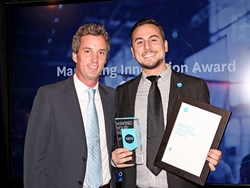 Xero US President Jamie Sutherland (left) with Advisor Director of Marketing Ryan MacCarrigan