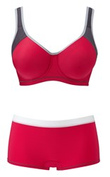 Freya Active Hot Crimson moulded sports bra £36 & short £11