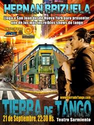 Tierra de Tango poster for San Juan, Argentna premiere - version 1