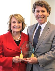 Tom Battley and Congresswoman Louise Slaughter