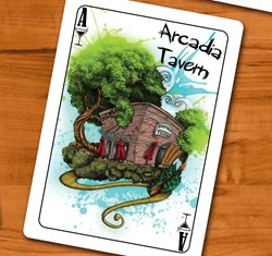 An Example of the Artwork being put into our Kickstarter project, The 52 Bars of Phoenix Fantasy Playing cards