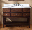 "James Martin Solid Wood 48"" Moria Single Bathroom vanity with a Countertop 206-001-5127"