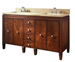 Avanity Brentwood 61 in. Vanity Only in New Walnut finish BRENTWOOD-V61-NW