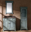"James Martin Solid Wood 36"" Bosco Ancient Blue Single Bathroom Vanity 147-114-5551"