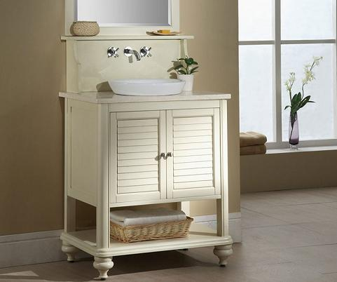 Homethangs Com Has Introduced A Guide To Shuttered Bathroom Vanities For A Cape Cod Style Bathroom