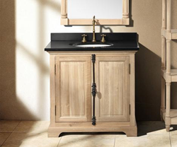 "James Martin Solid Wood 35.5"" Genna Natural Oak Single Bathroom Vanity 238-103-5221"
