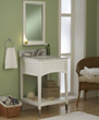 "sagehill designs sa2421 24"" Bathroom Vanity cabinet with open shelf from the seaside collection"