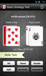 Blackjack trainer app basic strategy skills test screen shot