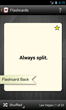Blackjack trainer app basic strategy flashcard back