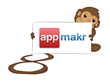 Logo for AppMaker and Infinite Monkeys creating Android Mobile Apps
