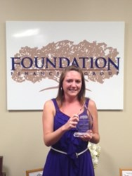 Foundation Financial Group Presents Reynolds Q2 Timothy Brosier Diamond Award