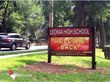 Leonia School LED Sign