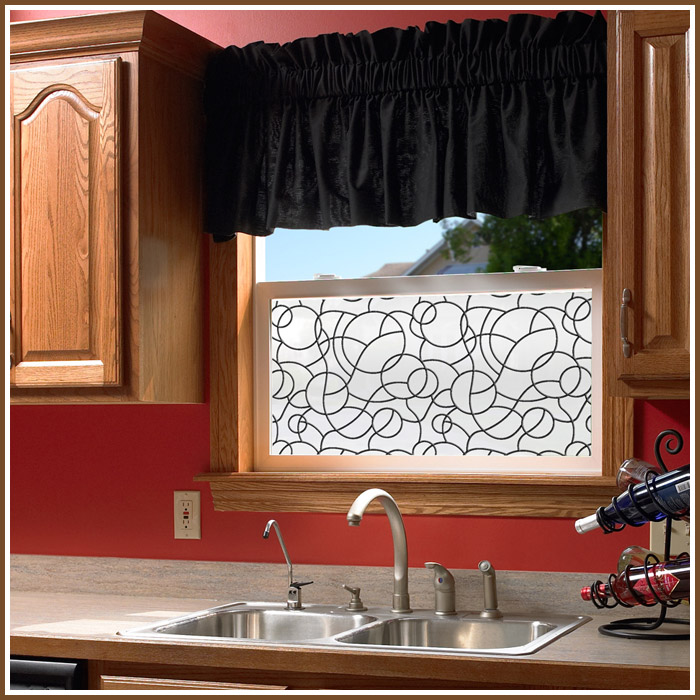 Kitchen Designs With Center Window: New Privacy Window Film With Added Look Of Security