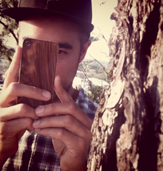 Material6 iPhone Wood Inlay Back Panel.