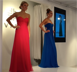 New prom dresses from Faviana Spring 2014 collection at Atlanta Market