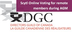 Scytl Online Voting Directors Guild of Canada