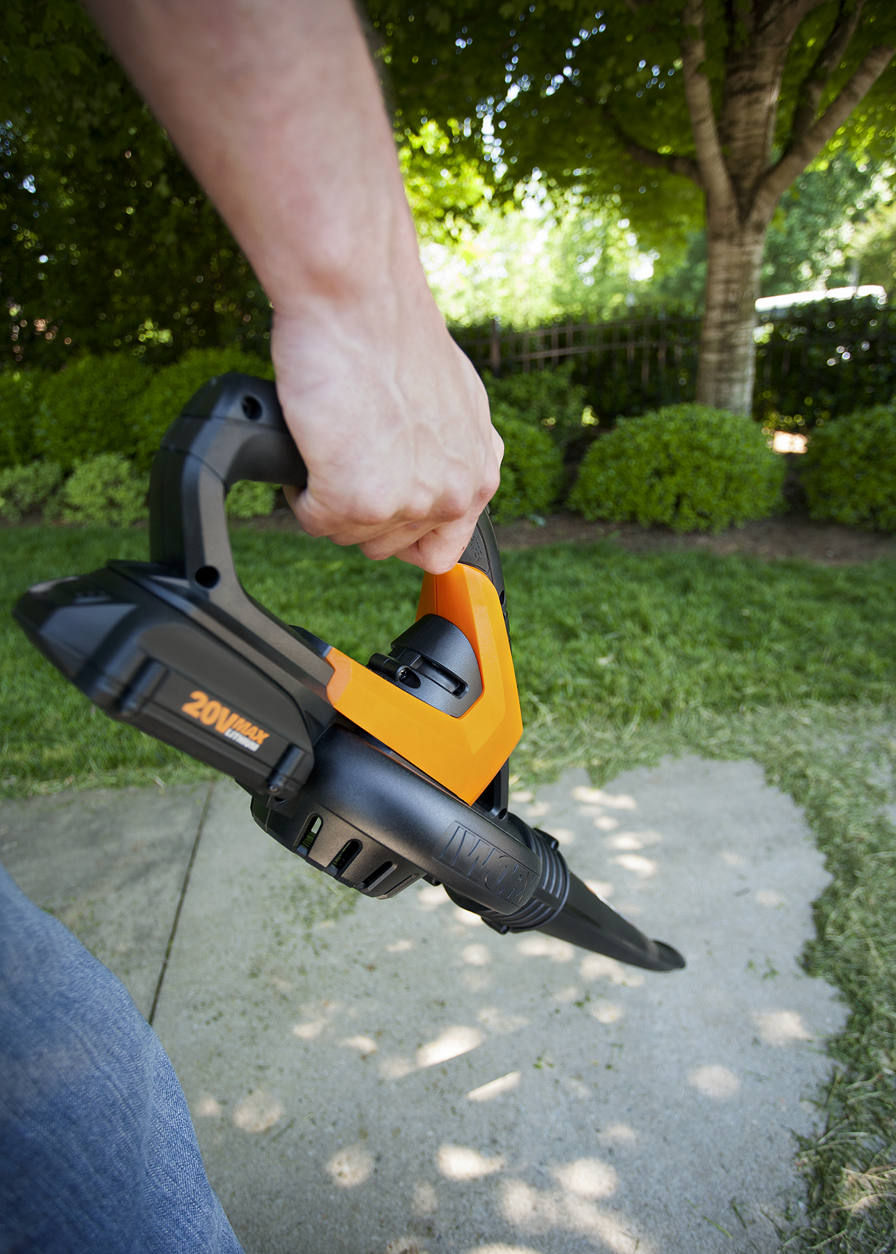 Worx Air Blower Sweeper With New Attachments Stops