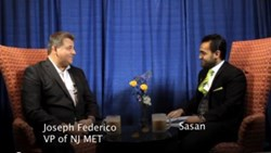 Joseph Federico, VP of NJ MET, being interviewed by Sasn Tabib of Chip-1 TV