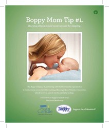 Creative for the Boppy Safe Sleep Campaign full page ad.