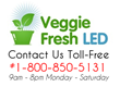 Newly Released LED Grow Lights by VeggieFresh LED Allows Controlled...