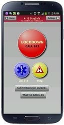 Smartphone panic button lockdown feature improves major K-12 incident response