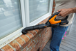 WORX AIR Detail Brush is handy for cleaning window sills