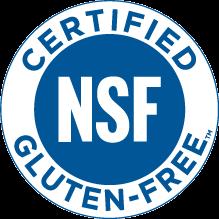 NSF Certified Gluten Free Mark