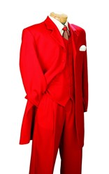 Holloween Costume Red Zoot Suit