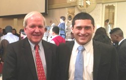 JSA Board Chairman Mike McCurry and Mid-Atlantic Governor Cristian Vides