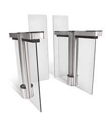 Fastlane Glassgate 300 optical turnstile for advanced lobby security