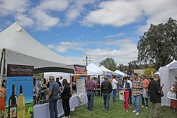 Patrons browse the vendors during last year's Oakhurst Fall Festival