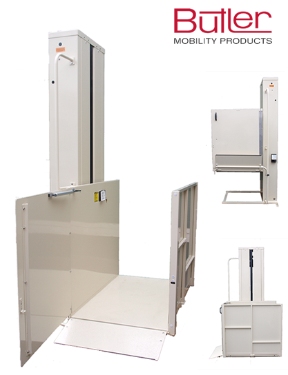 Vertical Wheelchair Lifts : Indoor outdoor wheelchair lifts announced by butler mobility