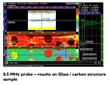 Inspection results using the LLF WheelProbe on a Glass Carbon Structure