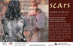 """Scars"" Exhibition of Laurie O""Reilly's Work at Agnes Jamieson Gallery"