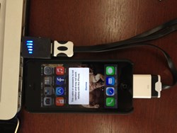 iPhone 5 charging with a knock-off cable after updating to iOS 7
