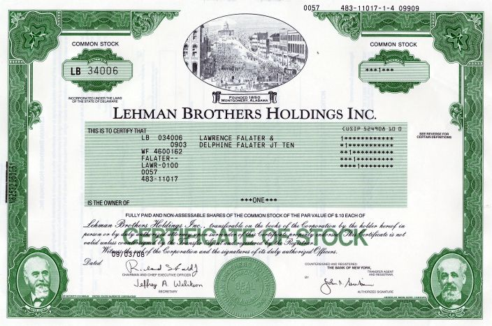 the lehman brothers company essay Henry lehman humbly started the company in 1844 as a small dry goods store located in montgomery alabama, and his brothers emanuel and.