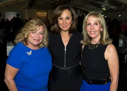 "(left to right) Ruth Slade, Partners Council for Women's Health Co-Chair, Emcee Rosanna Scotto, Co-Anchor of ""Good Day New York and Dayle Katz, Partners Council for Women's Health Co-Chair"