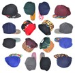 snapbacks laid out in a wheel