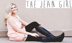 A Jean Girl modeling fashionable clothing with Jean Girl logo