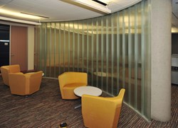 Channel glass wall