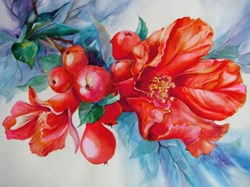 This painting by artist Sue Porter was an award winniner in the Pomegranate Festival category during a previous Celebrate Agriculture with the Arts showcase.