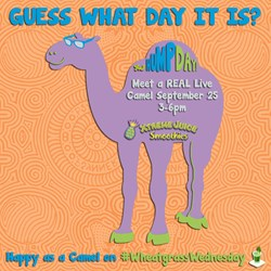 Happy Hump Day! On September 25th, Xtreme Juice customers will be as happy as a camel on Wheatgrass Wednesday.